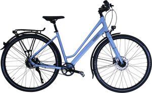HAWK Bikes Trekkingrad »HAWK Trekking Lady Super Deluxe Skye blue«, 8 Gang Shimano Nexus Schaltwerk