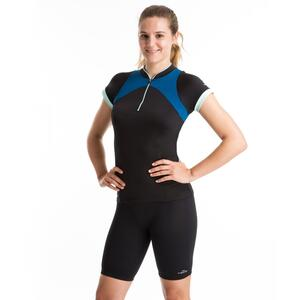 Aquafitness-Shirt Zia Aquagym Damen schwarz/blau