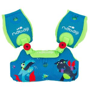 Schwimmflügel-Gurt Tiswim 15–30kg Kinder blau Druckmotiv Drache