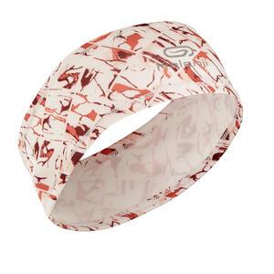 Lauf-Stirnband weiss/ rosa