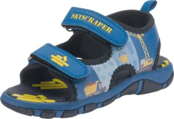 Sandalen  von TVMANIA, Baustelle blau Gr. 30 Jungen Kinder