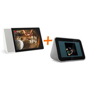 "Lenovo Bundle: Lenovo Smart Clock mit Google Assistant + Lenovo Smart Display mit Google Assistant (10,1"", Full-HD IPS Display)"
