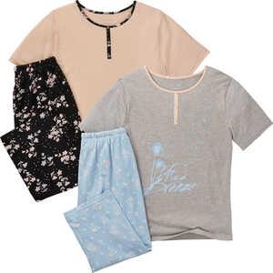 OYANDA®  Damen-Capri-Pyjama