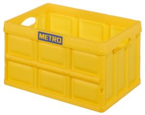 METRO Professional Klappbox Gelb 53 x 36 x 29,5 cm