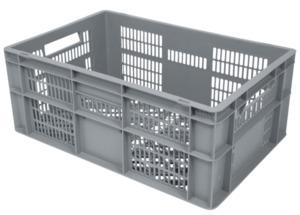 METRO Professional Gitter-Eurobehälter Hellgrau Polypropylen (PP) - 60 x 40 x 24 cm