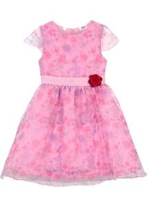 Festliches Mädchen Kleid mit Blumendruck