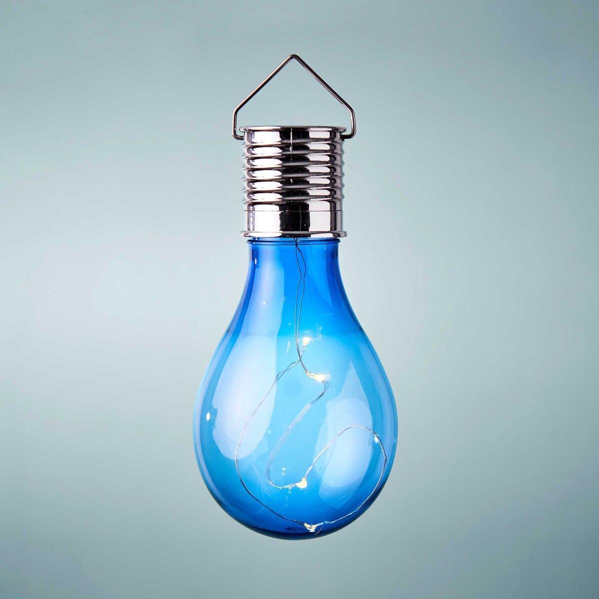 Bild 1 von Glühbirne Solar mit Aufhängung blau