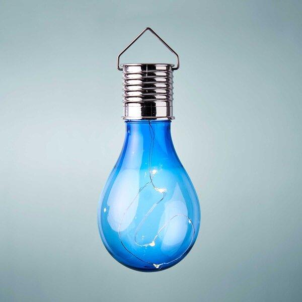 Glühbirne Solar mit Aufhängung blau