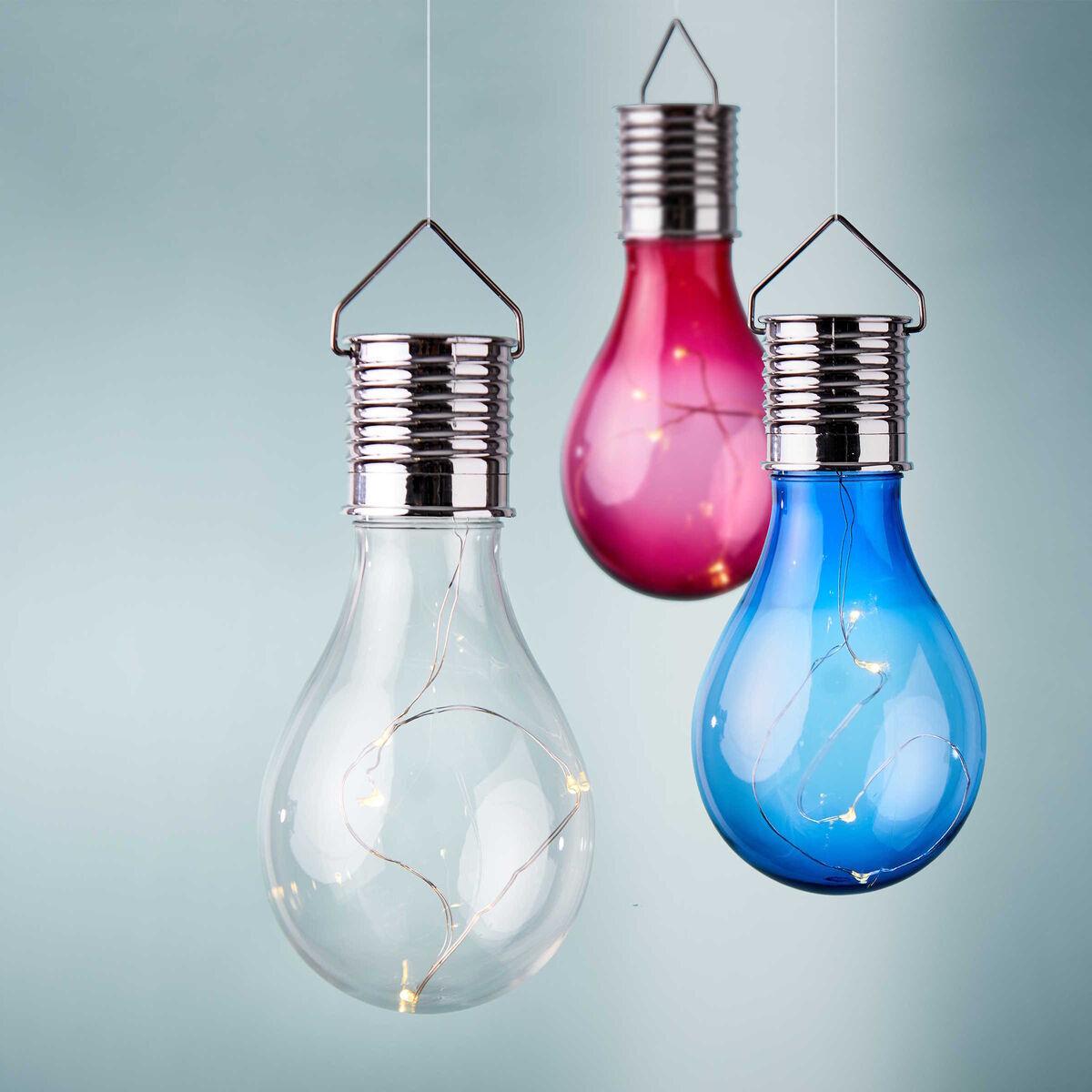 Bild 5 von Glühbirne Solar mit Aufhängung blau