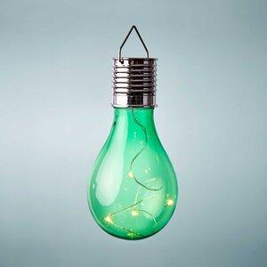 Glühbirne Solar mit Aufhängung grün