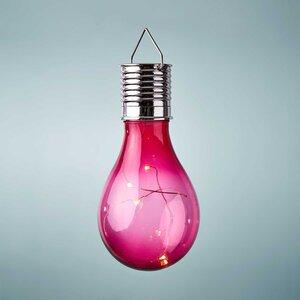 Glühbirne Solar mit Aufhängung pink