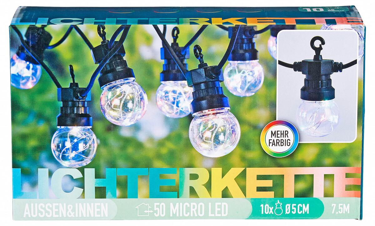 Bild 1 von LED Lichterkette mit 10 Lampen, bunt