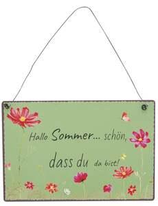 IDEENWELT Deko-Schild Hallo Sommer