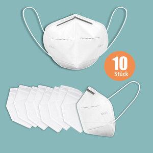 MEIRUN Atemschutzmaske FFP2 KN95 Masken 10er Box weiß