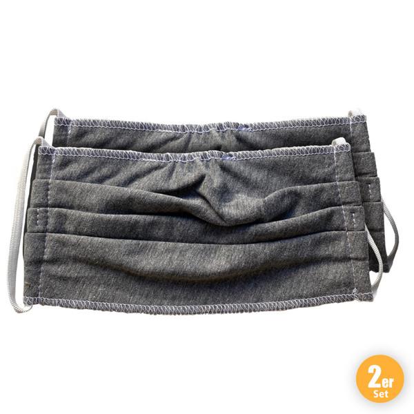 Tutambina Mehrweg Mund-Nasenmaske Grau 2er Pack