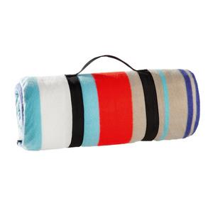 Solax-Sunshine Picknickdecke, ca. 135 x 175 cm - Streifen, hellblau/weiß/dunkelblau