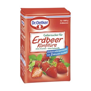 Dr. Oetker Gelierzucker extra 3:1 oder Gelierzucker für Konfitüren 500-g-Packung