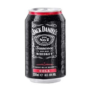 Jack Daniels & Cola oder Bacardi & Cola 10/10 % Vol., und weitere Sorten, jede 0,33-l-Dose