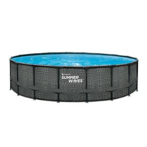 Summer Waves Elite Pool 549x132 cm rattan grau