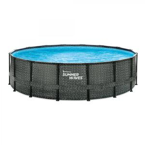 Summer Waves Elite Pool 488x122 cm rattan grau