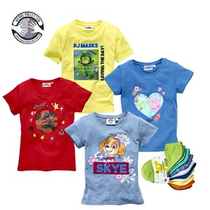 Kinder-Lizenz-Shirt mit Wendepailletten oder Wackelbild, Größe: 98 - 164 oder Kinder- Sneaker- Socken 10er-Pack, Gr. 27/30 - 35/38, je