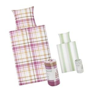Renforcé-Bettwäsche 55 % Baumwolle/45 % Polyester bestehend aus: 2 Bettbezügen, 135 x 200 cm 2 Kissenbezügen, 80 x 80 cm, je
