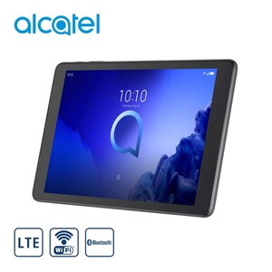 "Tablet 3T10 · HD-IPS-Display · 2 Kameras (2 MP/2 MP) · microSD™-Slot bis zu 128-GB · Google Assistant integriert (Startet mit ""Hey Google"") · 2 Stereo Frontlautsprecher · Android™ 9 · Bild"
