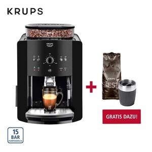 Kaffee-Vollautomat  Arabica Quattro Force · Express-Edelstahl-Kegelmahlwerk · Tamping-System: 30 kg Anpressdruck · patentierter Edelstahlblock · Autoclean-System