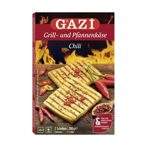 GAZI Grill- und Pfannenkäse 45 % Fett i. Tr. versch. Sorten, jede 200-g-Packung