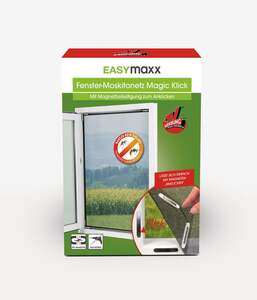 EASYmaxx Fenster-Moskitonetz Magic Klick