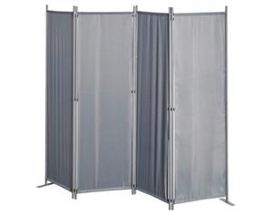 Grasekamp Paravent Sichtschutz 4-tlg grau