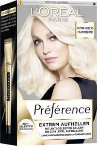 L'Oréal Paris Préférence extrem Aufheller ultra helles Platinblond