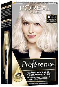 L'Oréal Paris Préférence Coloration 10,21 Stockholm Platin Perlmuttblond