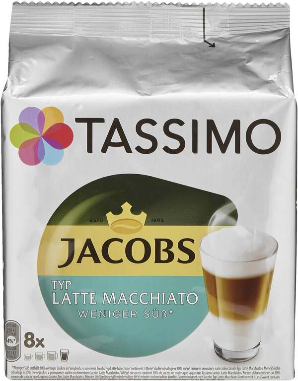 TASSIMO Jacobs Latte Macchiato weniger süß*