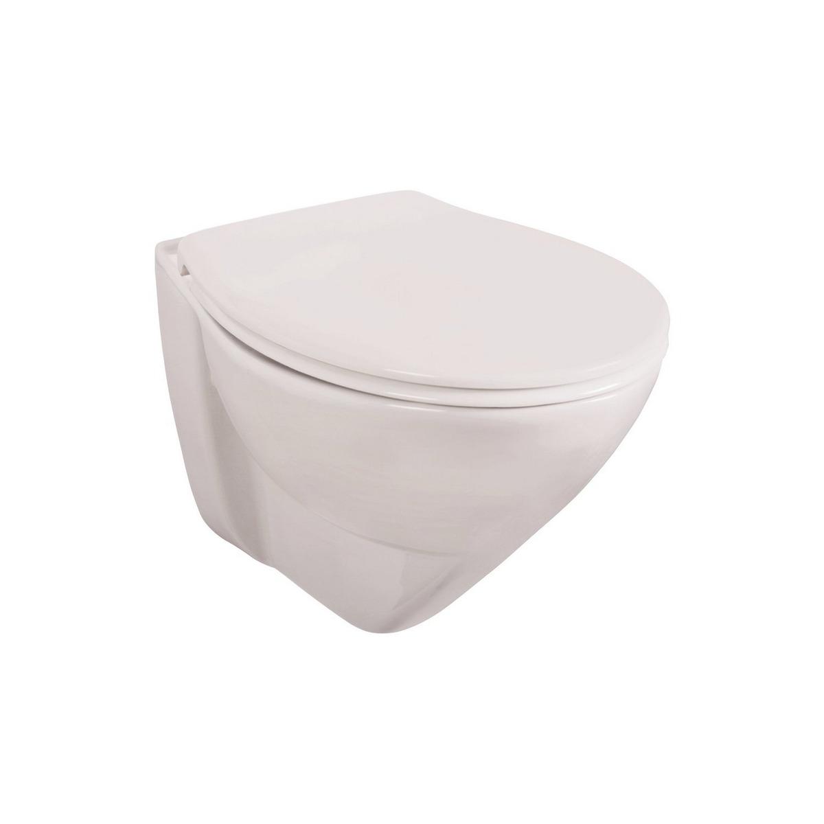 Bild 1 von Wand-WC Set 'Lidano 2.0' Tiefspüler, 6 cm erhöht