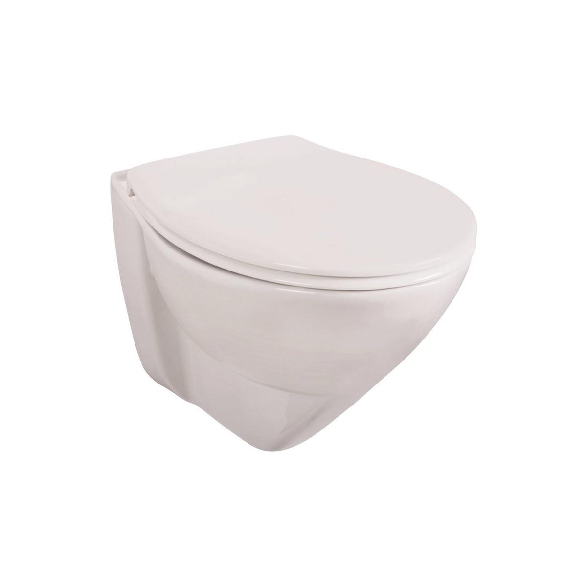 Bild 2 von Wand-WC Set 'Lidano 2.0' Tiefspüler, 6 cm erhöht