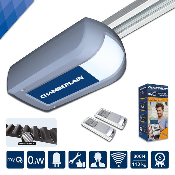 Garagentorantrieb 'ML810EV-Smart' silber, LED-Beleuchtung