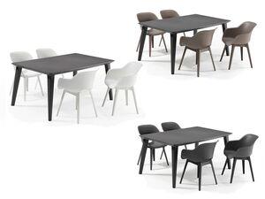 Allibert Lounge Set »Akola-Lima«, 5-teilig, mit 4 Stühlen, 1 Tisch,  anthrazit