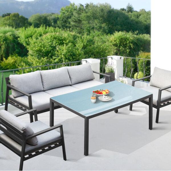 Gartenmöbel-Set mit Aluminium-Gestell von Aldi Nord für ...