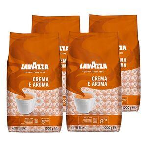 Lavazza, ganze Kaffeebohnen Kaffee Crema a Aroma 1 kg, 4er Pack