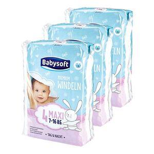 Babysoft Windeln Gr. 4 Maxi 38 Stück, 3er Pack