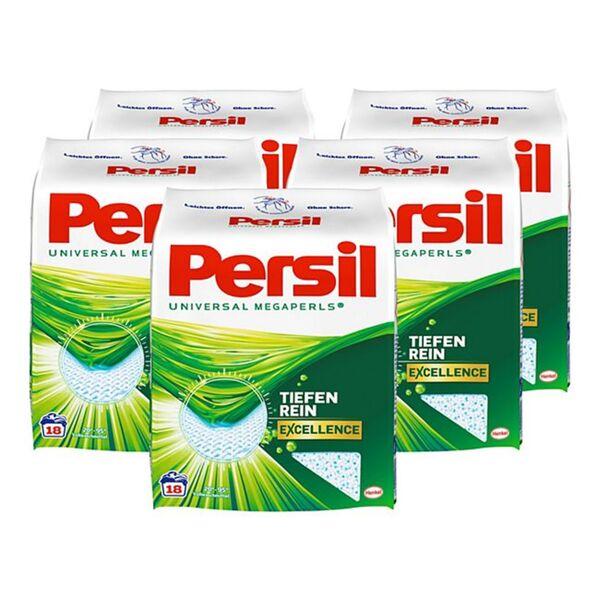 Persil Vollwaschmittel Megaperls 18 WL, 5er Pack