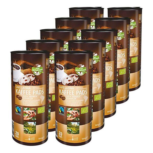 Bio Fairtrade Cafe Latina Kaffeepads 144 g, 10er Pack