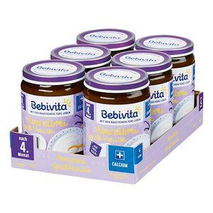 Bebivita Abendbrei Grieß-Vanille ab dem 4. Monat 190 g, 6er Pack