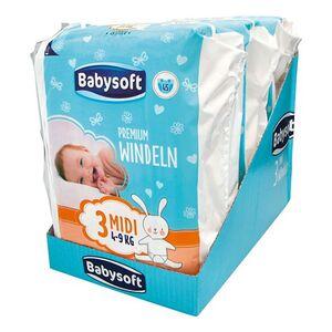 Babysoft Premium Windel Größe 3 Midi 45 Stück, 3er Pack