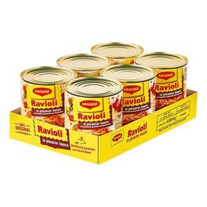 Maggi Ravioli in pikanter Sauce mit Fleisch 800 g, 6er Pack