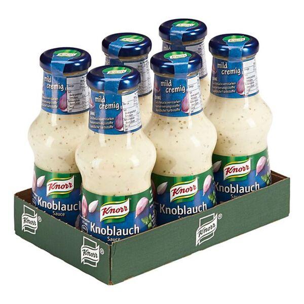 Knorr Knoblauch-Sauce 250 ml, 6er Pack