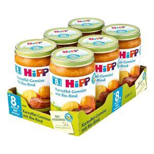 HiPP Bio Kartoffelgemüse mit Bio-Rind 220 g, 6er Pack