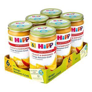 HiPP Bio Mango Bananen Grieß 250 g, 6er Pack