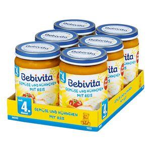 Bebivita Menü Gemüse und Hühnchen mit Reis 190 g, 6er Pack